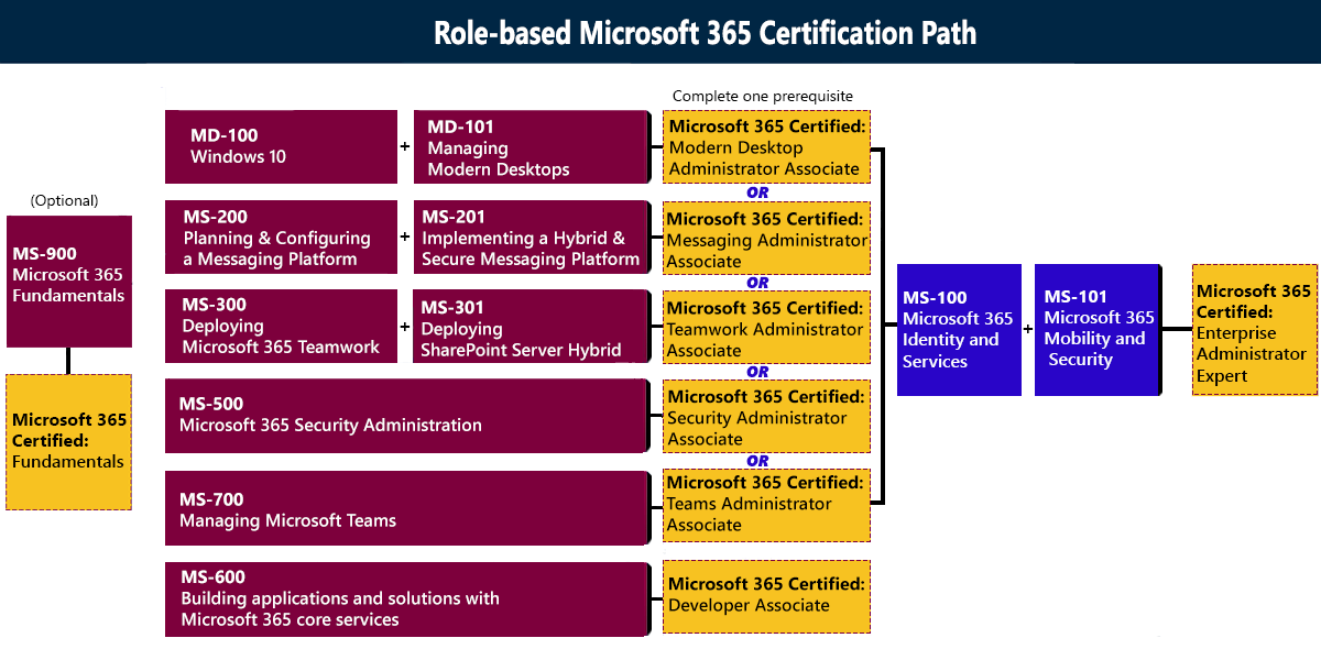 Microsoft 365_course_road_map